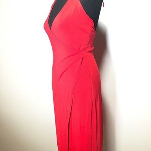 Laundry by Shelli Segal Dresses - Laundry by Shelli Segal Wrap-Neck Halter Gown Sz 4